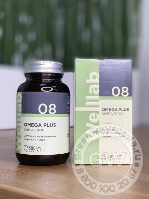 WELLLAB OMEGA PLUS, 90 КАПСУЛ